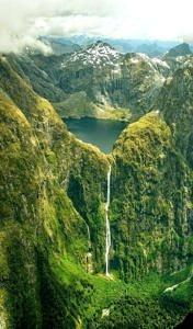 Wodospad Sutherland Falls, Nowa Zelandia