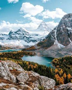 Jesień w Mount Assiniboine, Kanada
