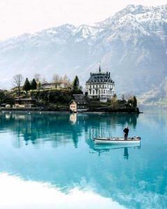 Jezioro Iseltwald Brienz, Szwajcaria