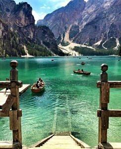 Jezioro Braies Włochy