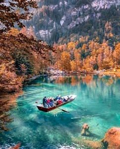 Jezioro Blausee Szwajcaria