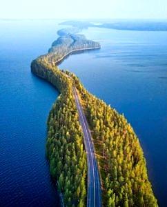Naturalny most w Finlandii